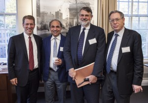 Dean Trevor Morrison, Professor Mario Rizzo, Professor Thomas Merrill, and Professor Richard Epstein